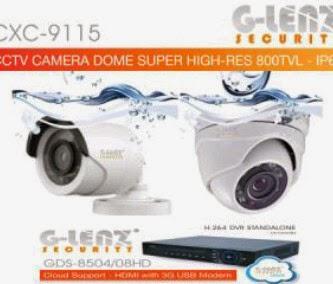 Paket CCTV G-lenz 800 TVL IP67 Water Resistant