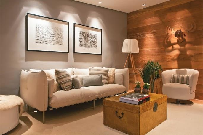 Porcelanato com efeito de madeira desfrute desse recurso for Sala de estar imagenes