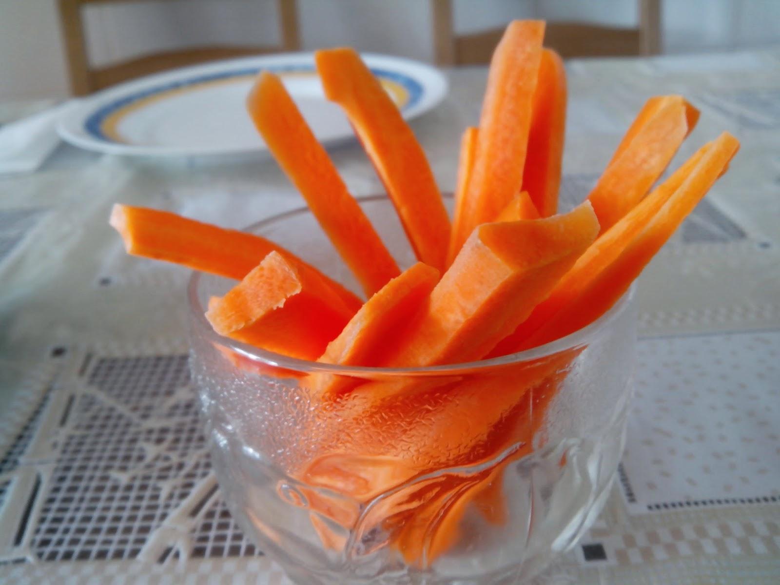 Fotografía snacks de zanahoria.