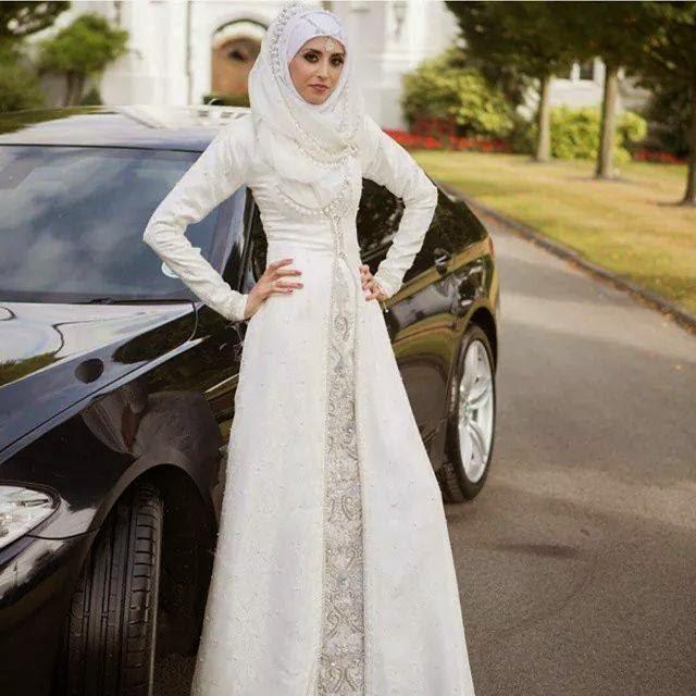 Designer Wedding Abaya Dresses For Bridals 2016 2017: Latest & Fancy Casual & Party Wear Abaya With Hijab 2017