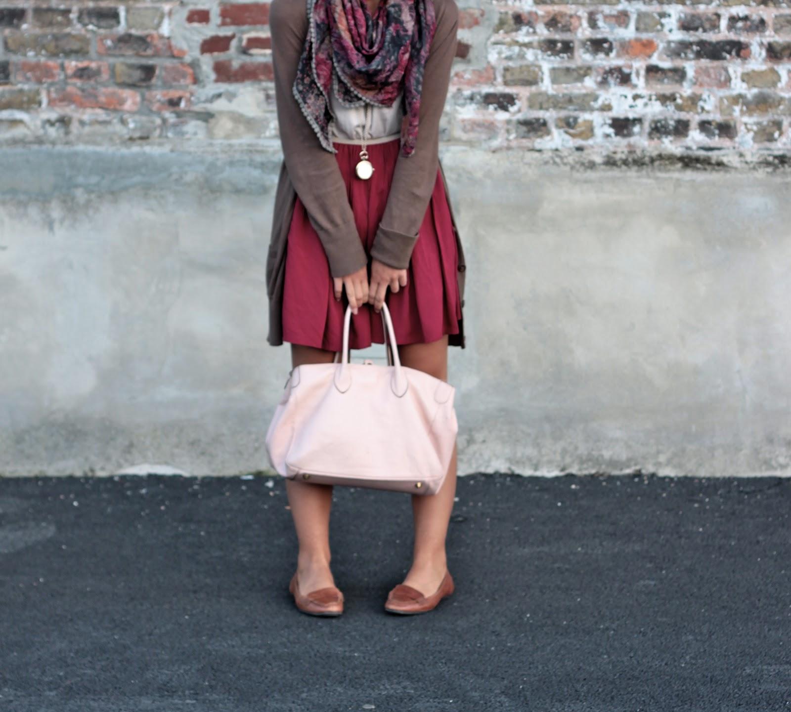 look jupe bordeaux