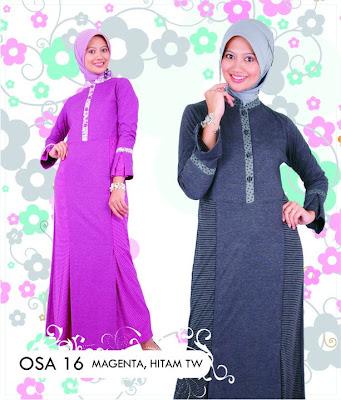 Katalog Fashion Osmoes Pakaian Wanita Muslim Magenta Hitam TW