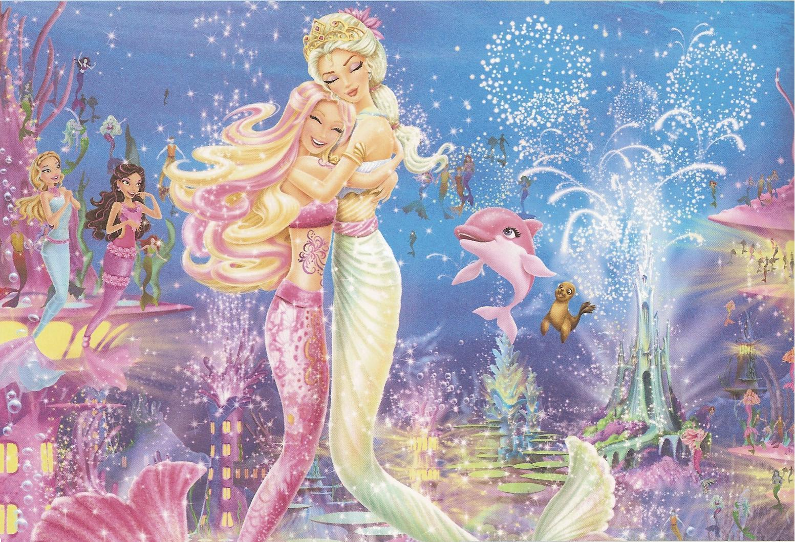 Download lembar mewarnai gambar barbie in a mermaid tale