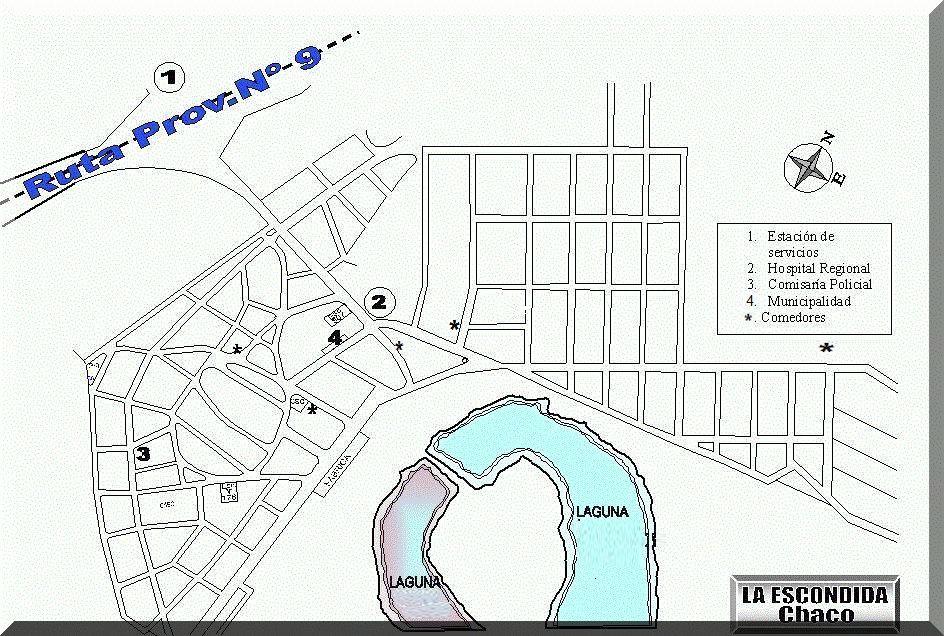 Mapa parcial La Escondida