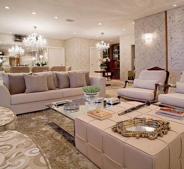 Decore sua mente, seu corpo e seu espaço: salas de estar luxuosas ...