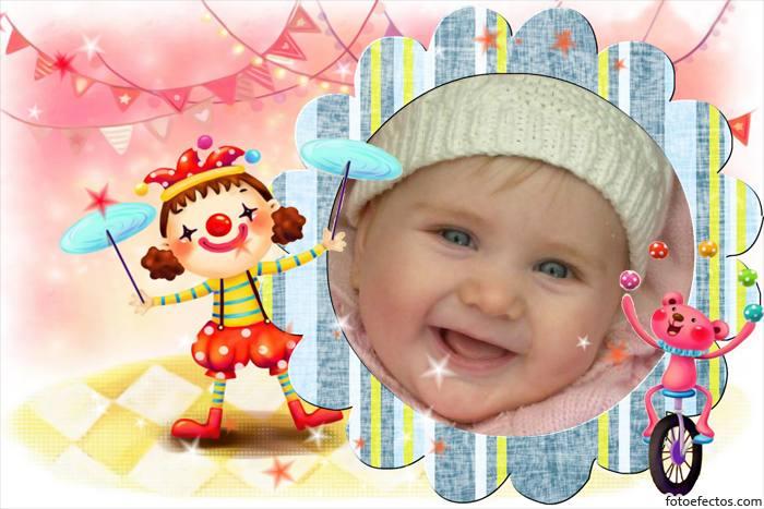 Fotomontaje Infantiles - El Circo | Fotomontajes Infantiles