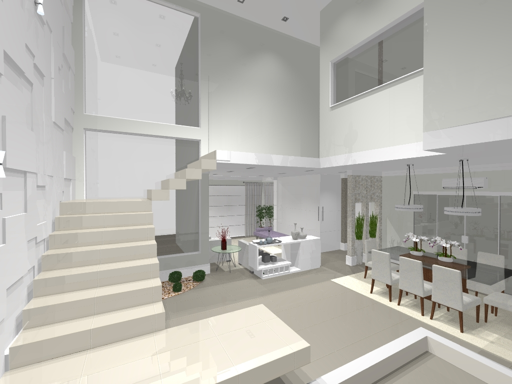 Projetos e Reformas Fale conosco Hall da Escada -> Decoração De Hall Com Escada
