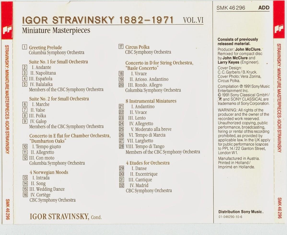 Diabolus In Musica Stravinsky Vol06 Miniature Masterpieces