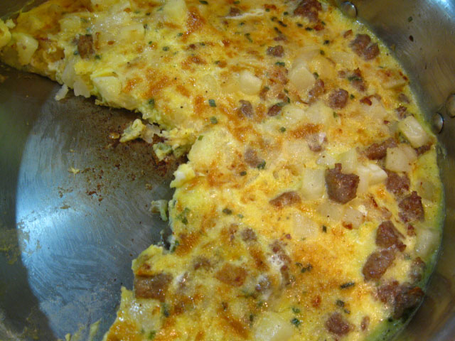 Duo of Chefs: Wisconsin Maple Cheddar and Breakfast Sausage Frittata