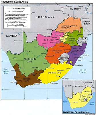 South Africa Map Picture