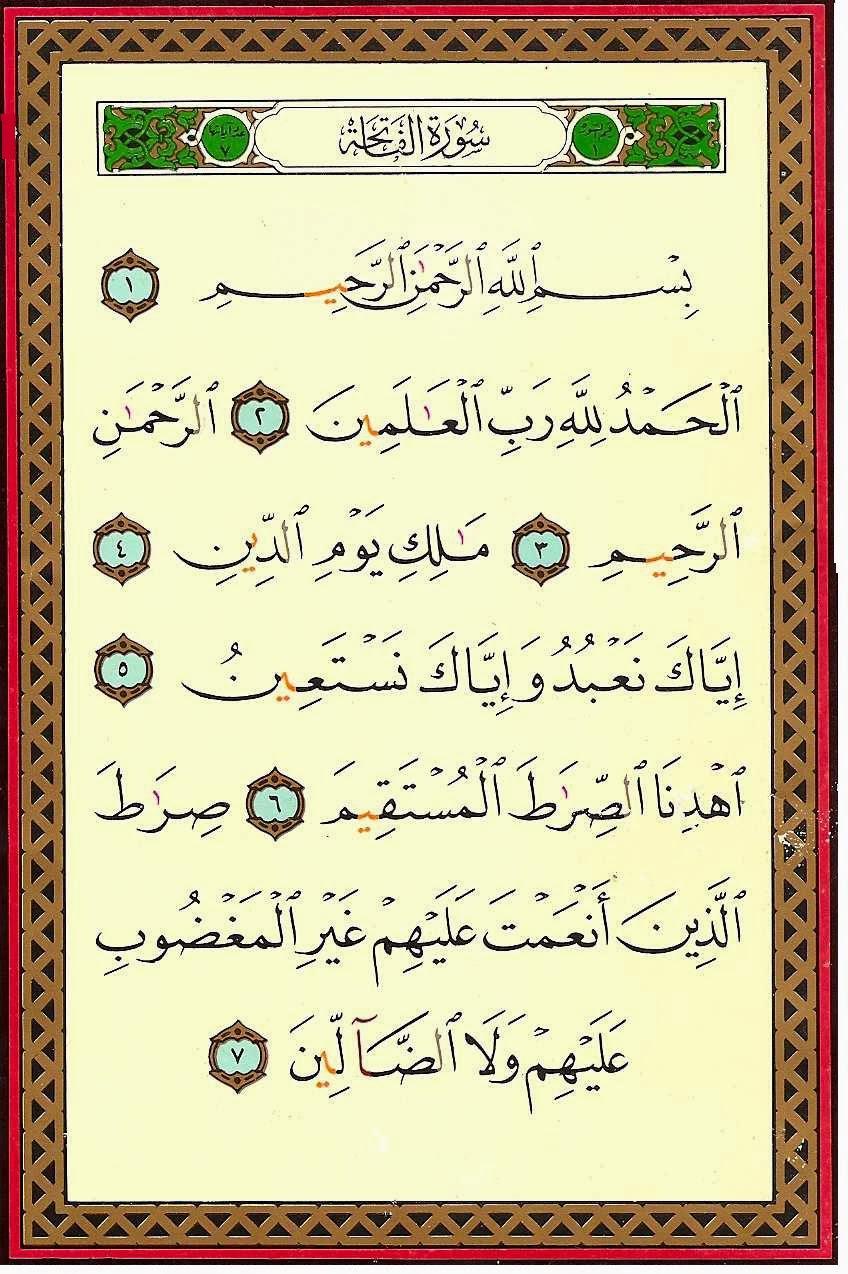 Surat Al Fatihah Dan Keajaiban Angka 7
