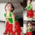 Lovely Kid in Red Fancy Rich Lehenga
