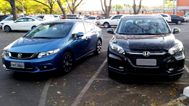 Honda HR-V x Honda Civic: comparativo