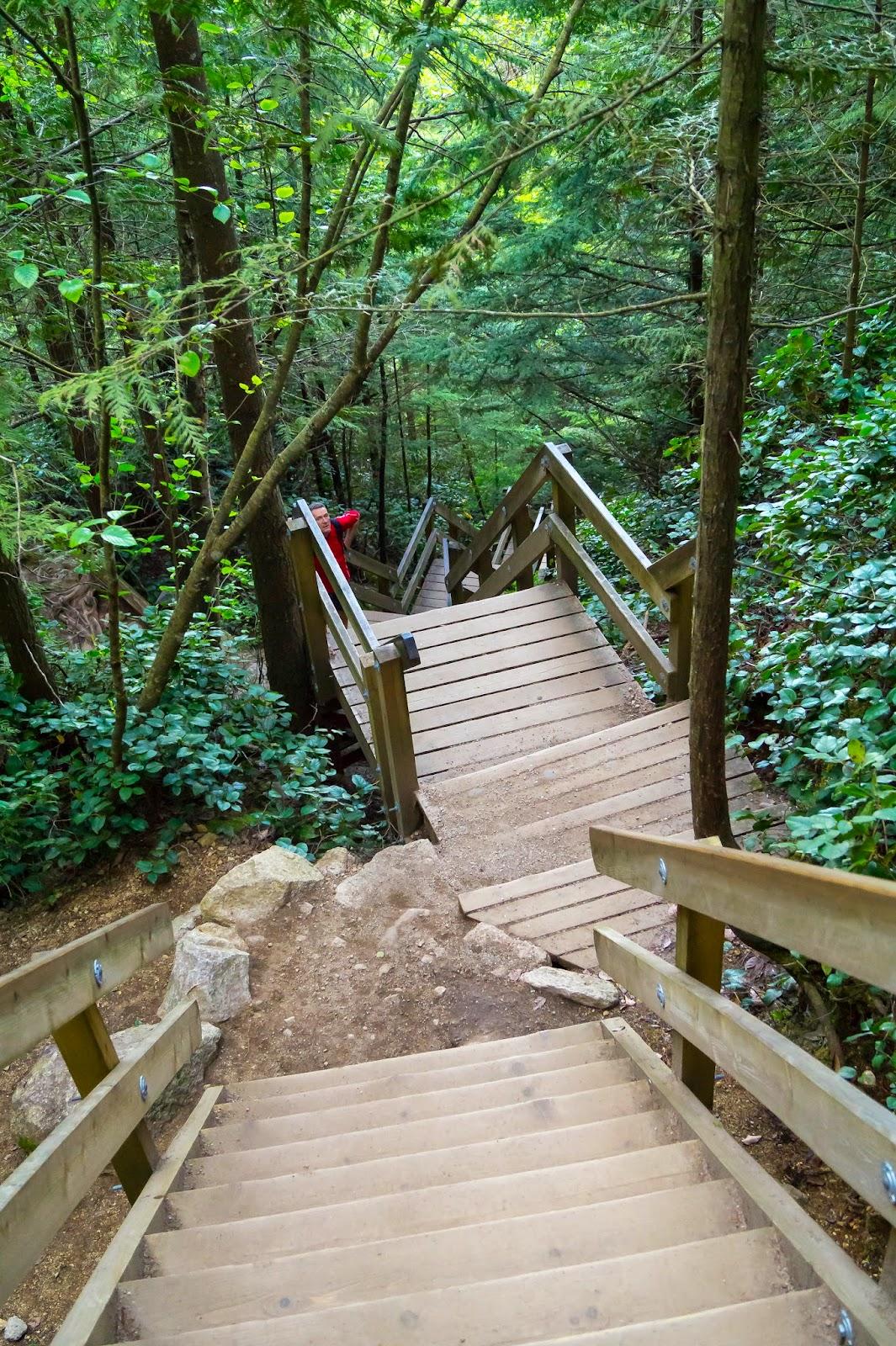 В каких-то местах путь ведет по вполне аккуратным лестницам.