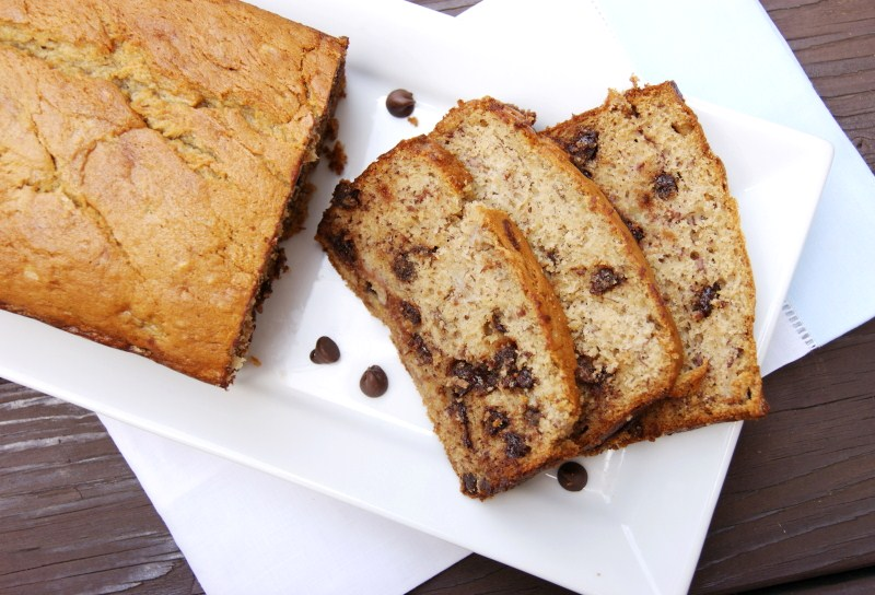 Chocolate Chip Banana Bread - it's not weird! ~ The Kitchen is My ...