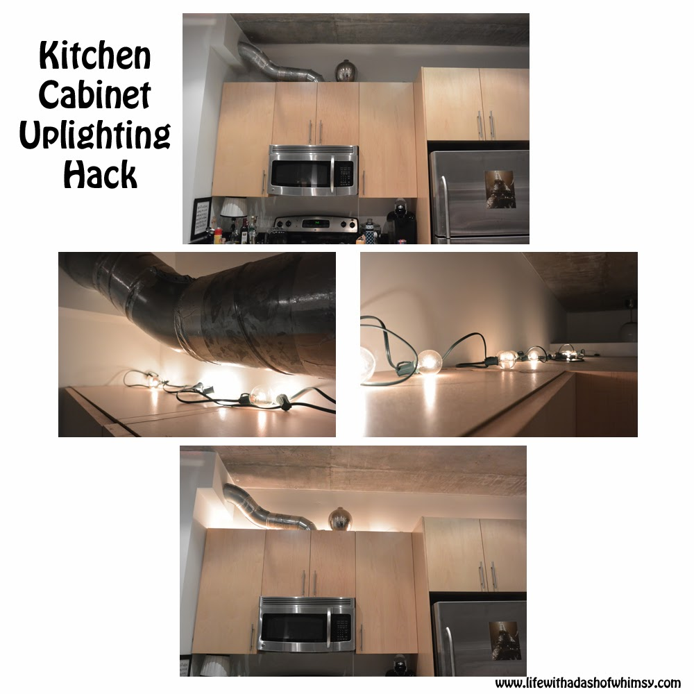 Life With A Dash Of Whimsy Uplighting Not Just For Custom Built Homes - Kitchen up lighting