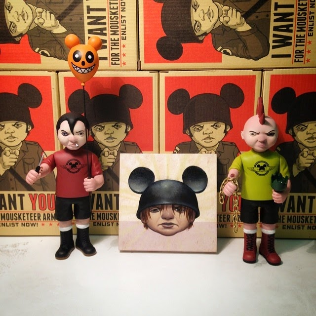 """BOB DOB/'S MOUSEKETEER ARMY WIL EDITION 6/"""" LIMITED VINYL FIGURE"""