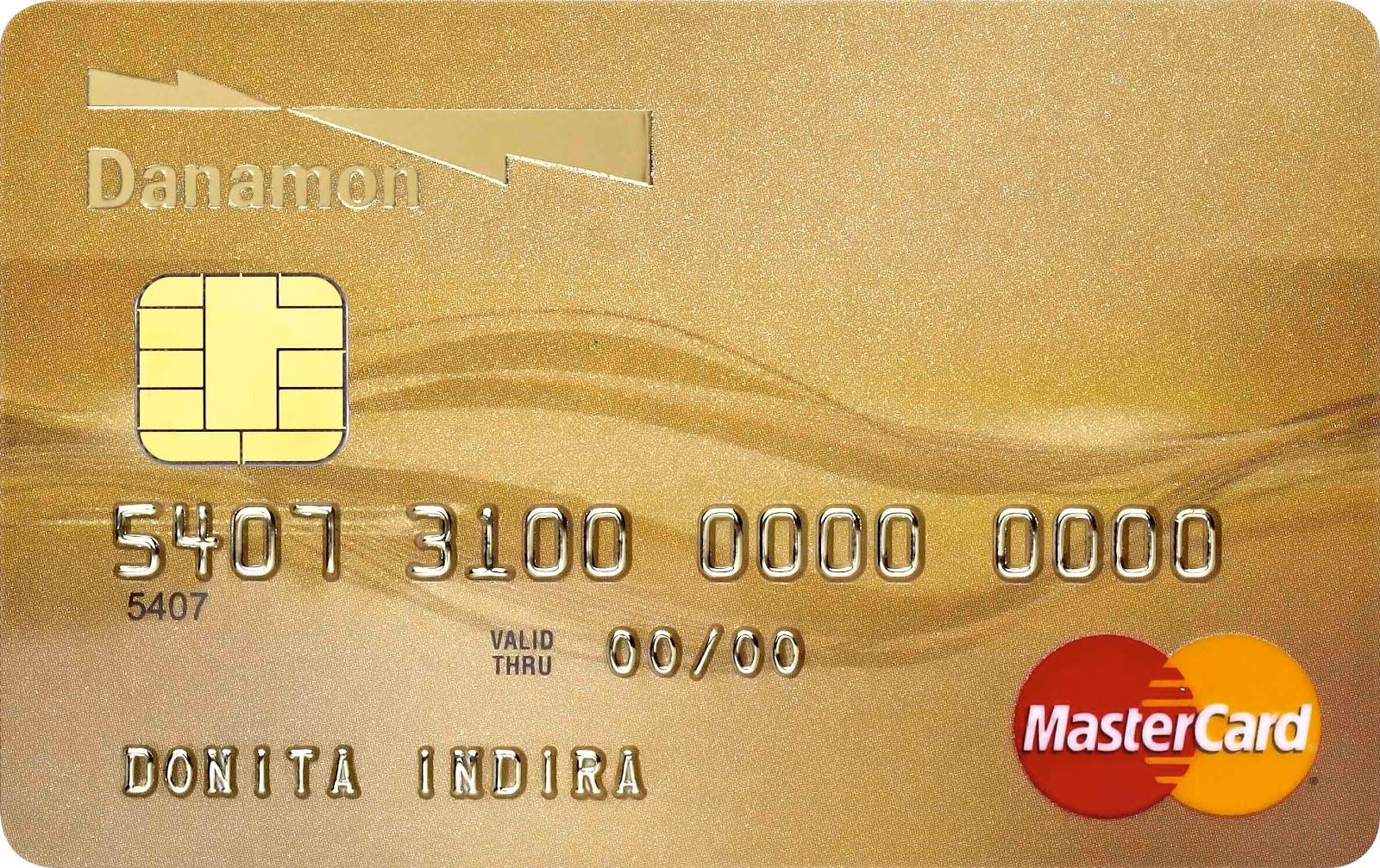 contoh kartu kredit danamon gold card contoh penampilan kartu kredit ...