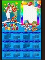 Moldura Patati e Patata calendário