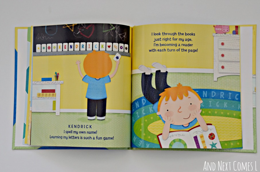 Inside the I'm a Big Boy Now personalized storybook from I See Me {review & giveaway} from And Next Comes L