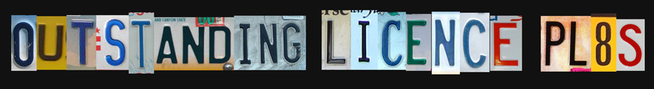 Outstanding Licence Plates