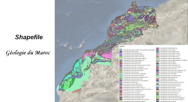 Shapefile de la géologie du Maroc