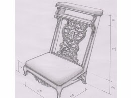 desain mebel dengan gambar tangan