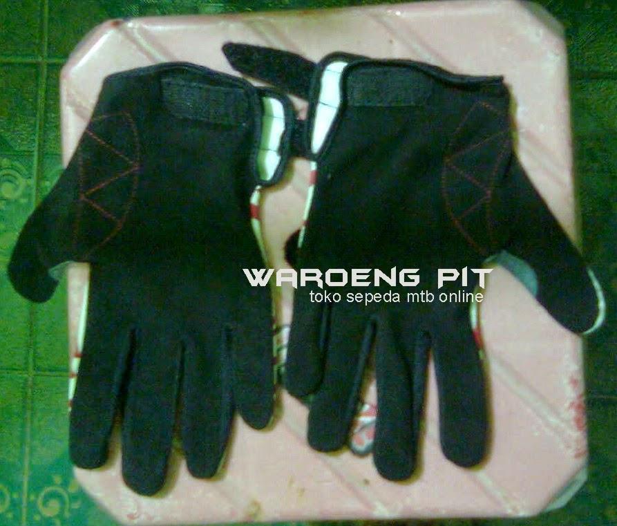 jual sarung tangan kaos Prorao GT R zebra merah putih sepeda mtb gunung murah waroengpit