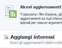 liste di interessi Facebook