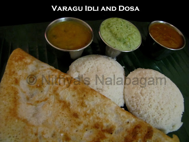 Kodo Millet Idli and Dosa