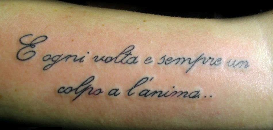frasi da tatuare sulla vita italiano