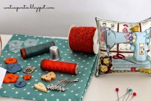 kit de costura - contas e pontos