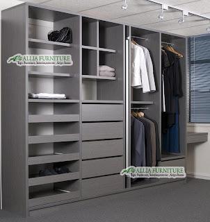 Lemari pakaian minimalis model tanpa pintu