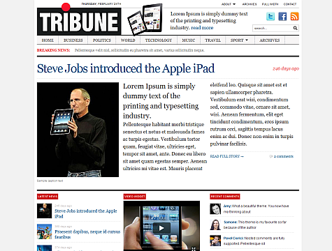 Wordpress Template News Tribune