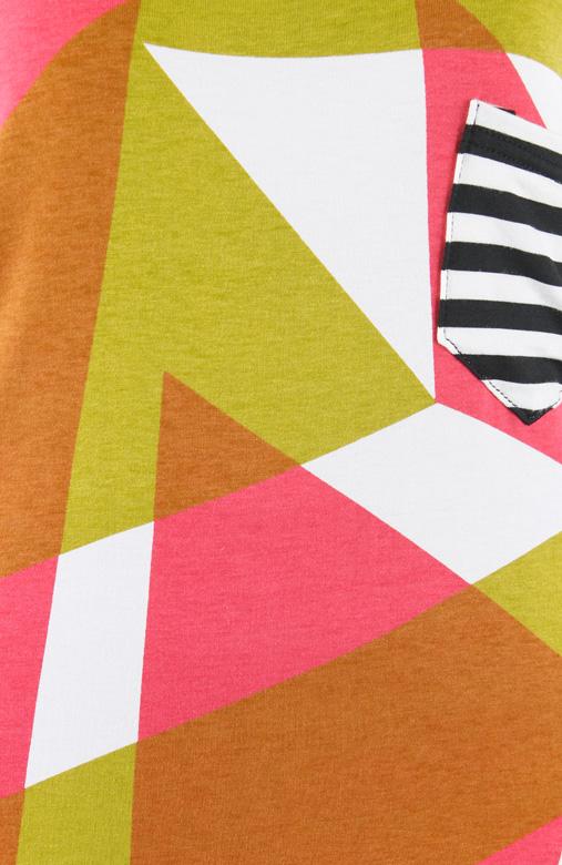Graphic Wonder Stripe Long Top