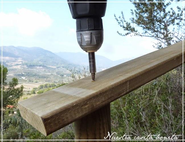 Barandilla exterior de madera nuestra casita bonita - Barandillas exterior leroy merlin ...