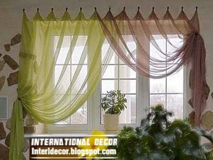 interior and architecture Contemporary Kitchen curtain ideas 2014
