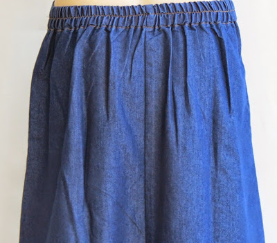 Skirt Jeans Printed Channel RM325-2