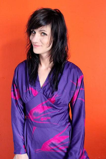 electric vintage dress violet kimono style