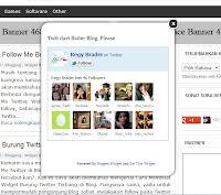 Cara Membuat Widget Follow Me Box Twitter Melayang di Blog