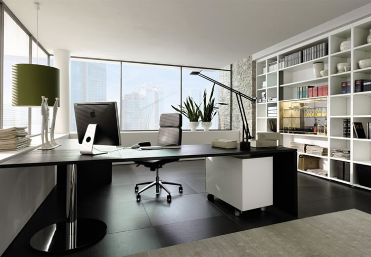 Luxury Modern Home Office Design (6 Image)