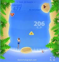 Jogos de Nadar Nadador na cascata