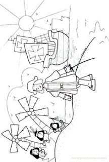 Dibujo para Colorear de la llegada de Cristobal Colon a America