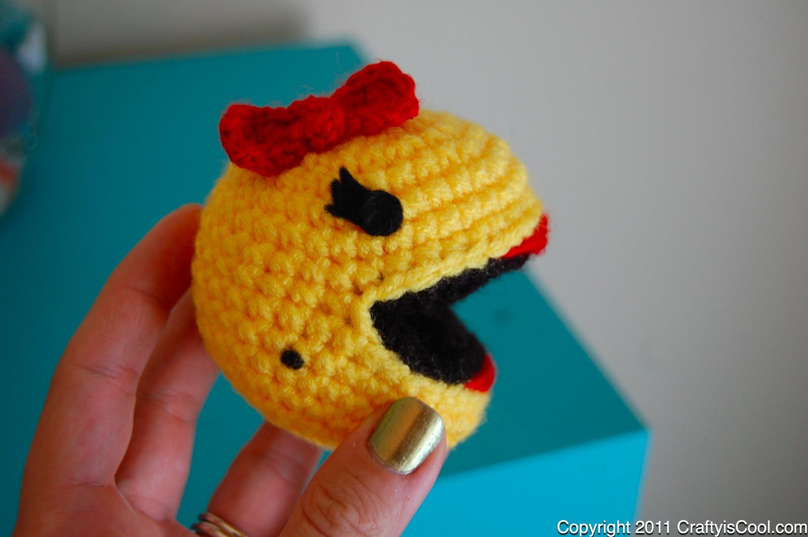 Amigurumi Pacman : CRAFTYisCOOL: Free Pattern Friday! Ms. Pac-man