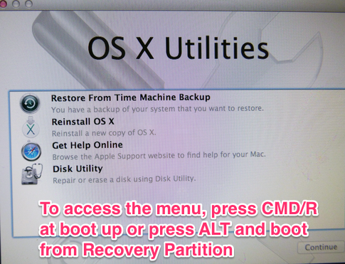 how to create recovery partition mac el capitan