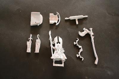 Piezas de metal del High Elf Tiranoc Chariot