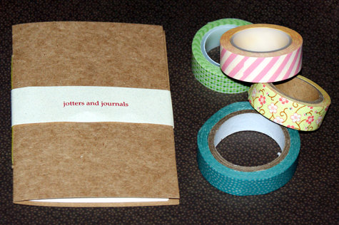 DIY Washi Tape Notebook Craft Project