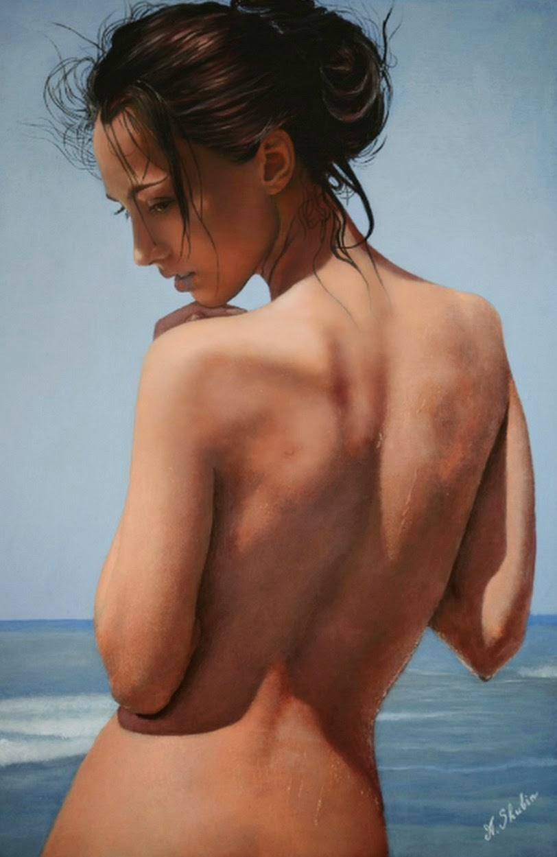 Mujer Desnuda Al Oleo Anatomia Femenina Pintura Cuerpo