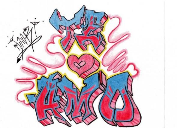 Te Amo En Graffiti Letters