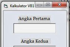 Membuat Program Kalkulator Standar Dengan Visual Basic (Versi I)